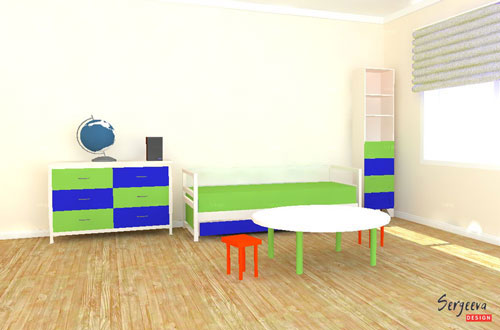 Белый цвет в детской комнате | визуализация | цвет стен для детской | советы дизайнера | sergeevadesign.ru