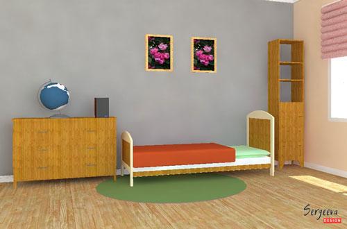 Серый цвет в детской комнате | визуализация | цвет стен для детской | советы дизайнера | sergeevadesign.ru
