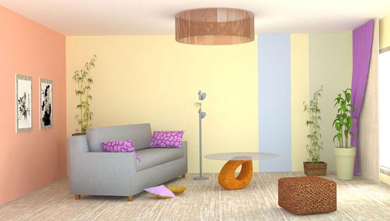 визуализация комнаты с диваном